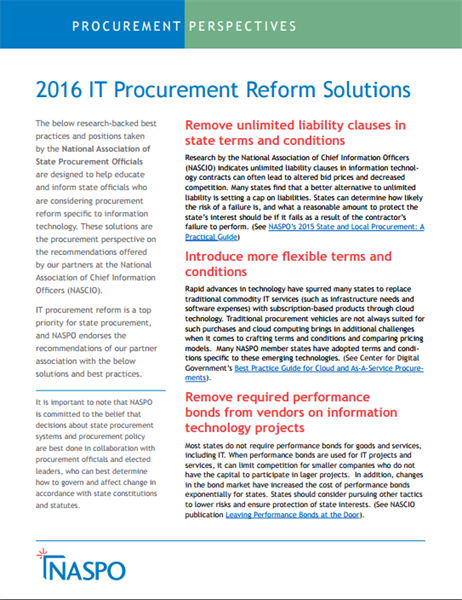 2016 IT Procurement Reform Solutions