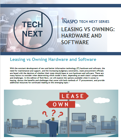 Tech Next: Leasing vs. Owning Hardware and Software